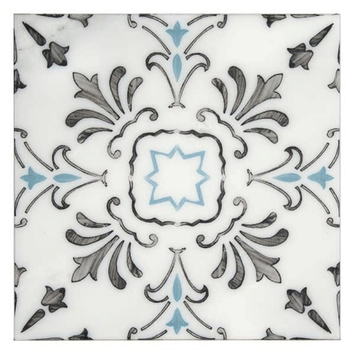 Dana Point Pacific Blue in Honed Carrara Natural Stone Tile