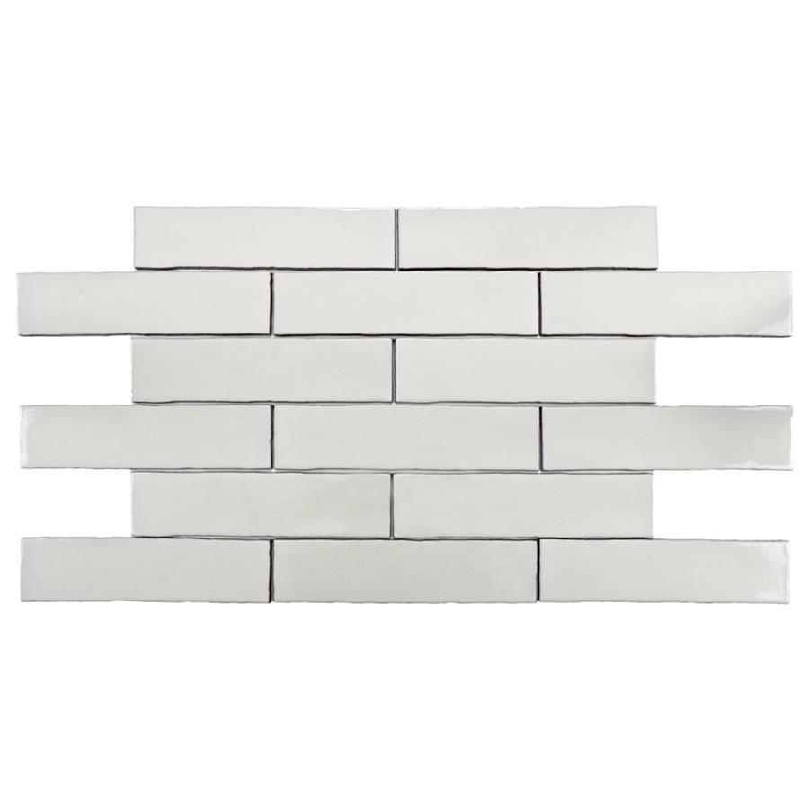 Ceramic Tile in Craquelle White colorway