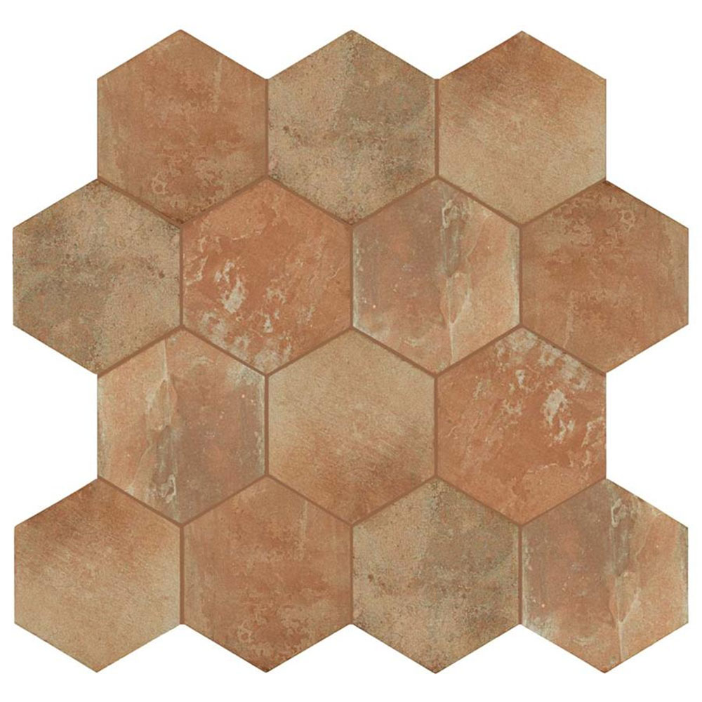 Porcelain Tile in Boston North End Hexagon colorway