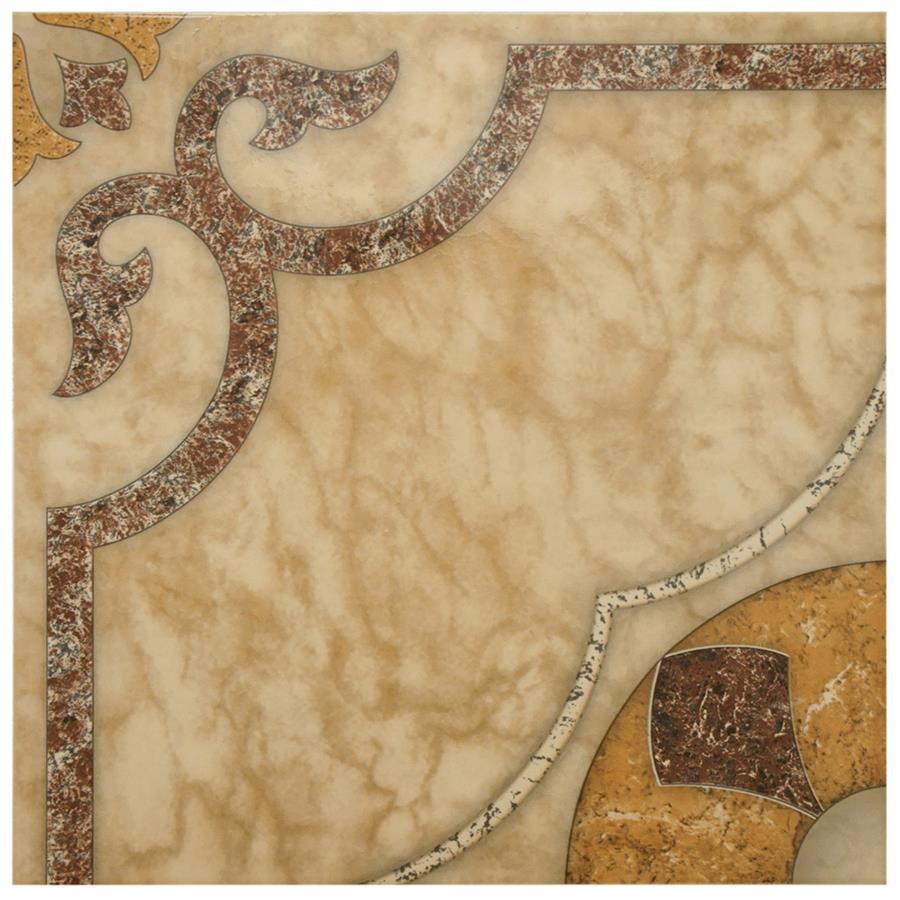 Ceramic Tile in Beige Cream colorway