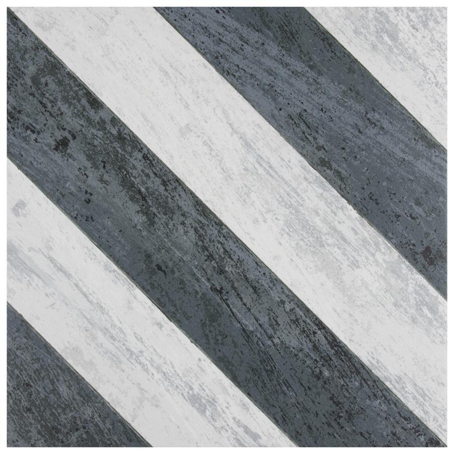 Porcelain Tile in Sete Black colorway