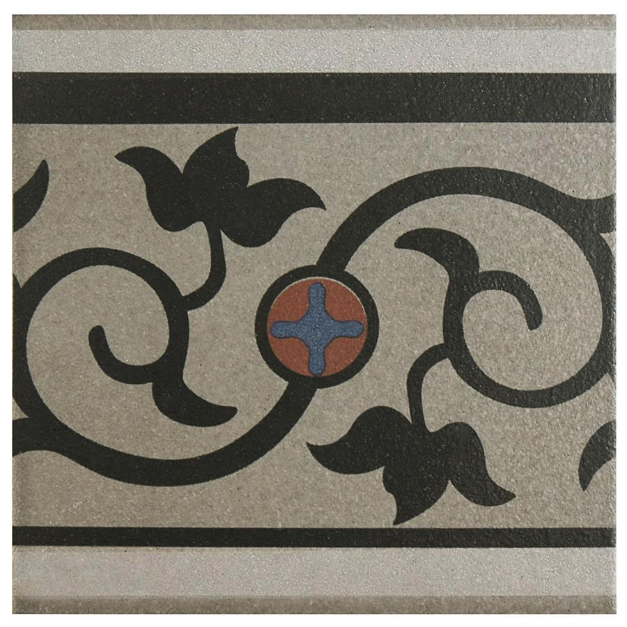 Porcelain Border Tile in Quatro And Cenefa colorway