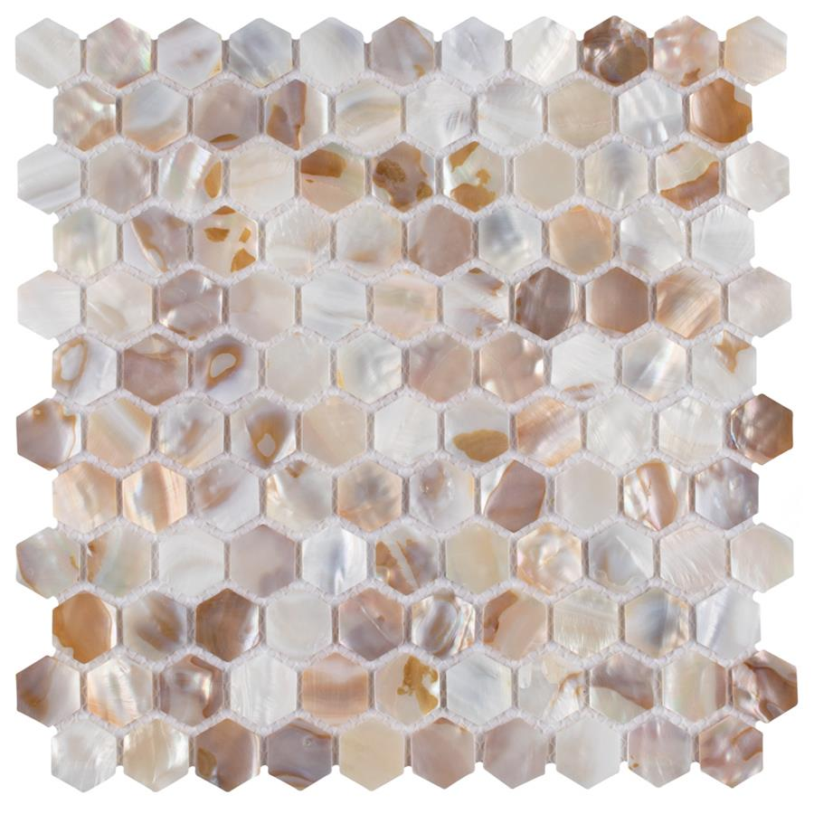 Natural Shell Mosaic Tile in Hexagon Collection