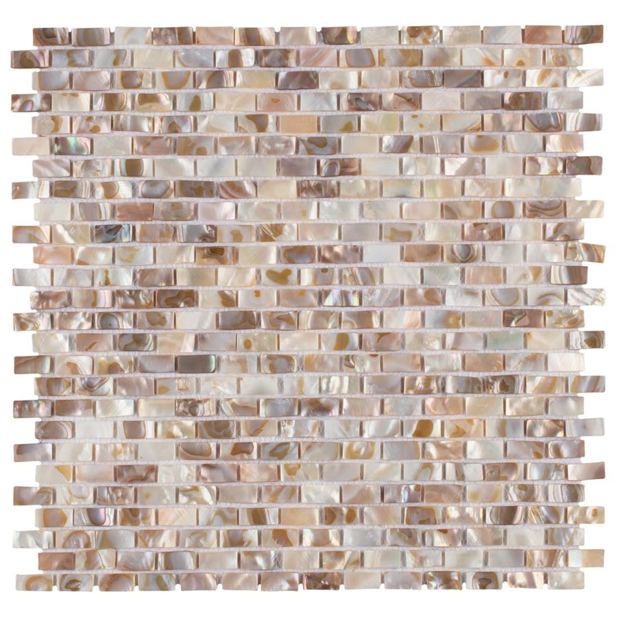 Natural Shell Mosaic Tile in Subway Perla Collection