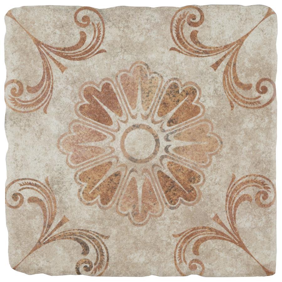Ceramic Tile in Arena 6 Decor Fleur colorway