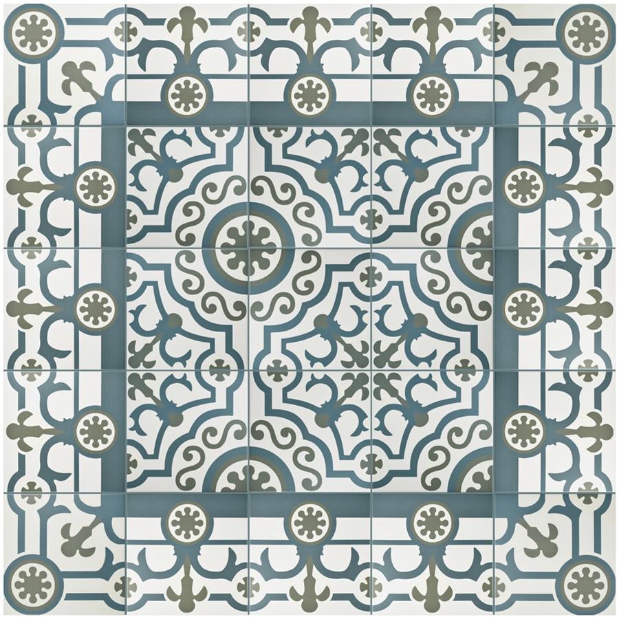 Porcelain Tile in Ducados Cenefa colorway