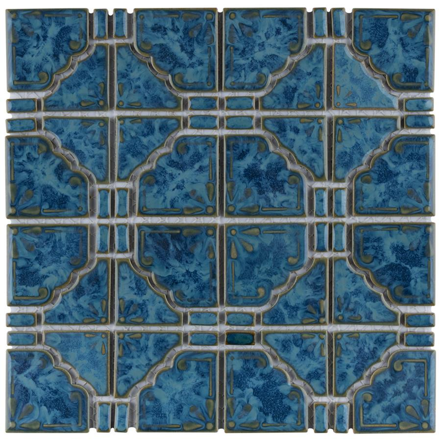 Porcelain Tile in Pacific Blue colorway