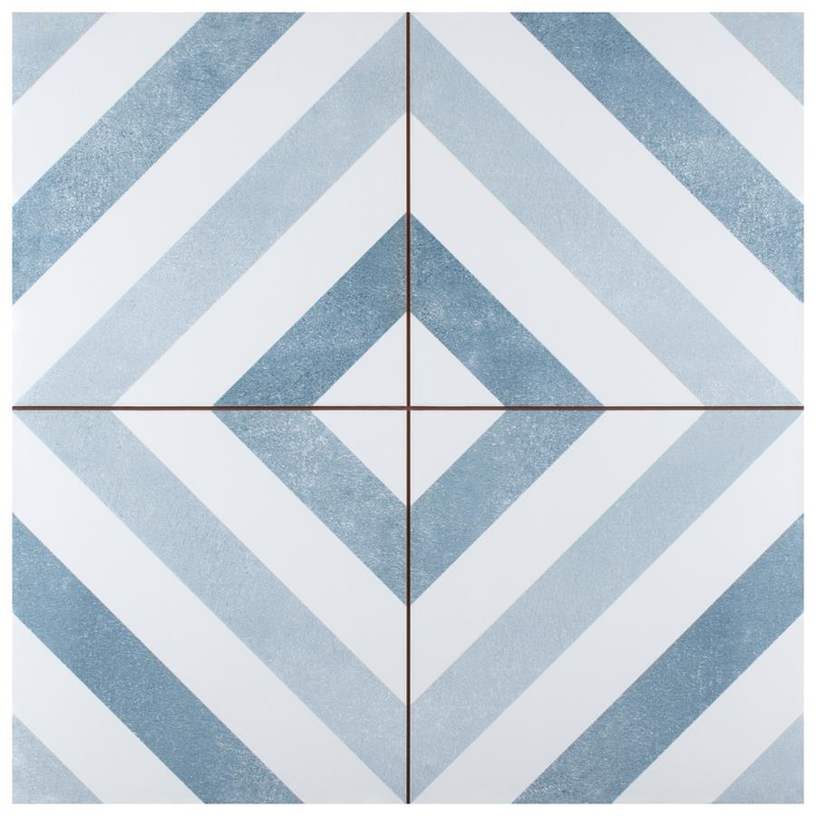 Ceramic Tile in Light Blue colorway
