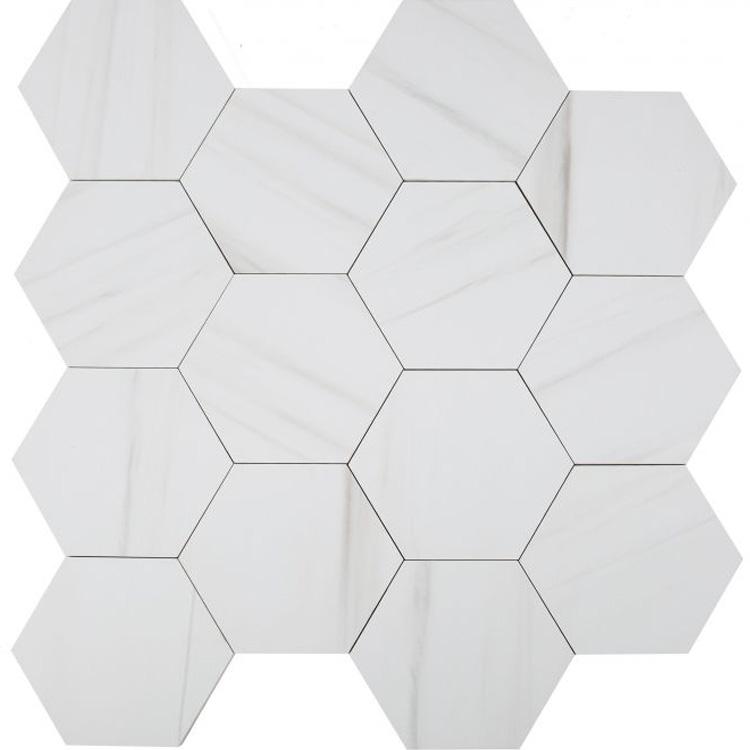Dolomite Premium Matte Hexagon 8 x 9 Porcelain Tile