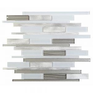 Alumix White Glass And Aluminum Tile