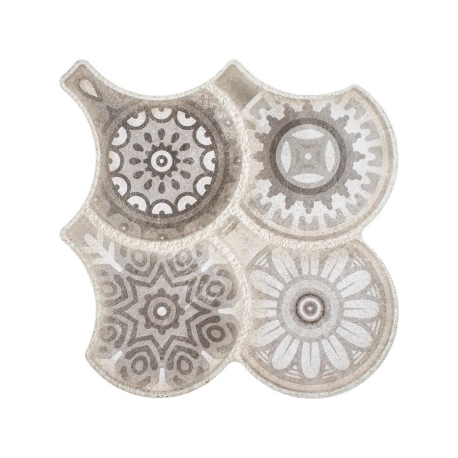 Porcelain Tile in Granada Grey Decor colorway