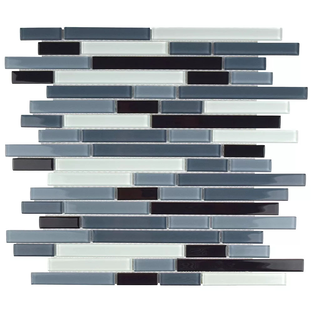 Glass Mosaic Tile in Piano Mariana colorway