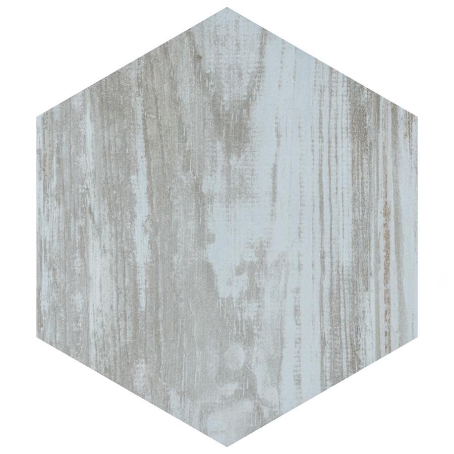 Porcelain Tile in Hex Grey colorway