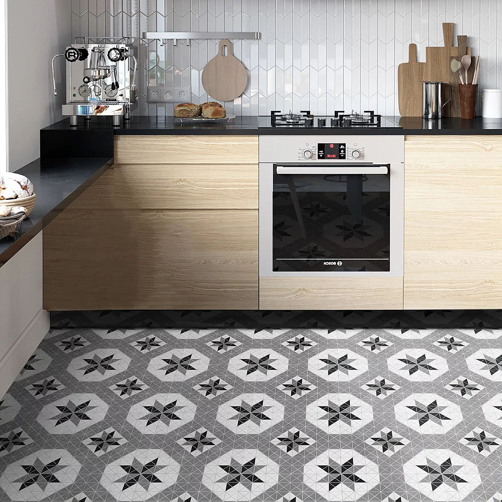 Porcelain Tile in Blossom Octo Twist Classic Mix colorway