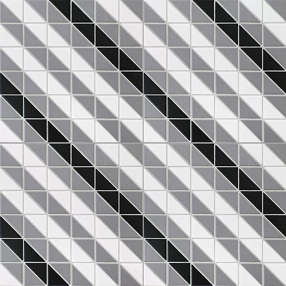 Porcelain Tile in Diagonal Classic Mix colorway