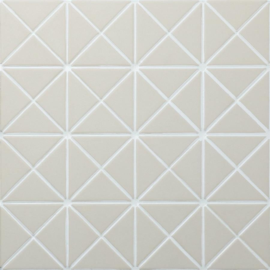 Porcelain Mosaic Tile in Crossover Antique White colorway