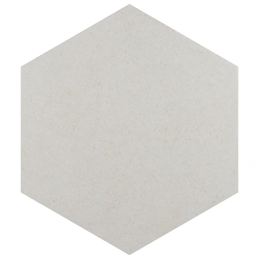 Porcelain Tile in Hex Blanco colorway