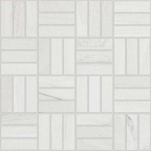 Voyage Mosaic 12 x 12 White Ceramic Tile