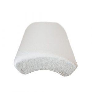 1.25x6 Ceramic tile in White Crackle Quarter Round colorway
