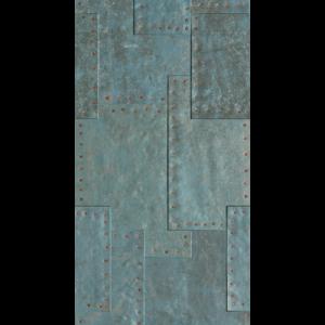 18x47 Porcelain tile in Grunge Blue Fizz colorway