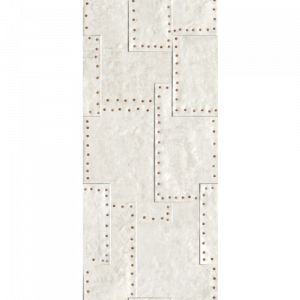 18x47 Porcelain tile in Grunge White Fizz colorway