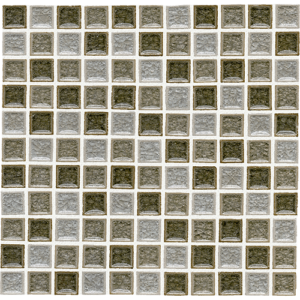 12x12 Glass Mosaic tile in 1x1 Orion Blend colorway