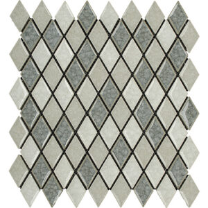 12x12 Glass Mosaic tile in 1x2 Frozen Blend Harlequin colorway