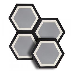 """8"""" Cement tile in Gramercy Hexagon colorway"""