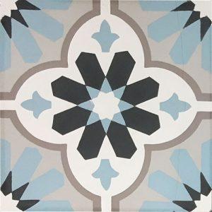 8x8 Cement tile in Regency colorway