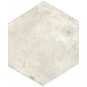 10x11.5 Porcelain tile in Terre Ice Natural Hexagon Colorway