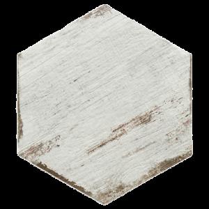 14x16 Hex Porcelain tile in Vintage Blanc Hexagon colorway
