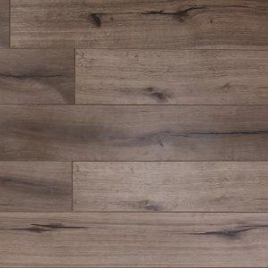 Laminate flooring in Grey Rose colorway