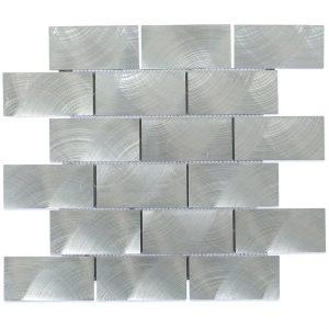Aluminum 2 x 4 Silver Tile