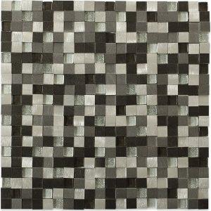 Aluminum Dimension Nero 3D Squares Tile