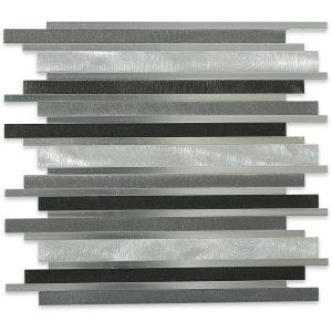 Aluminum Metal Flow Nero Tile