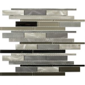 Aluminum Waterfall Nero Ice Tile