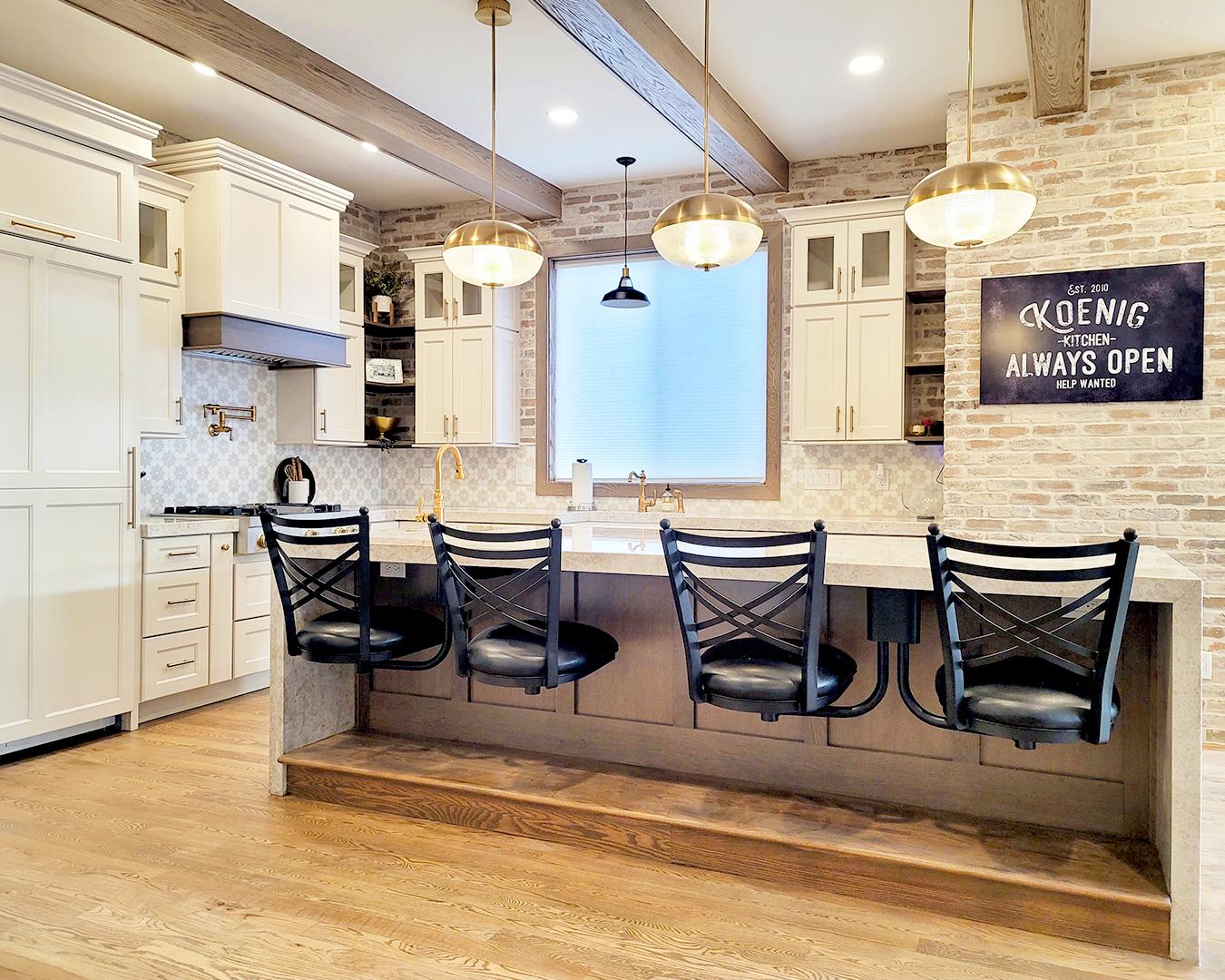 elegant modern farmhouse kitchen
