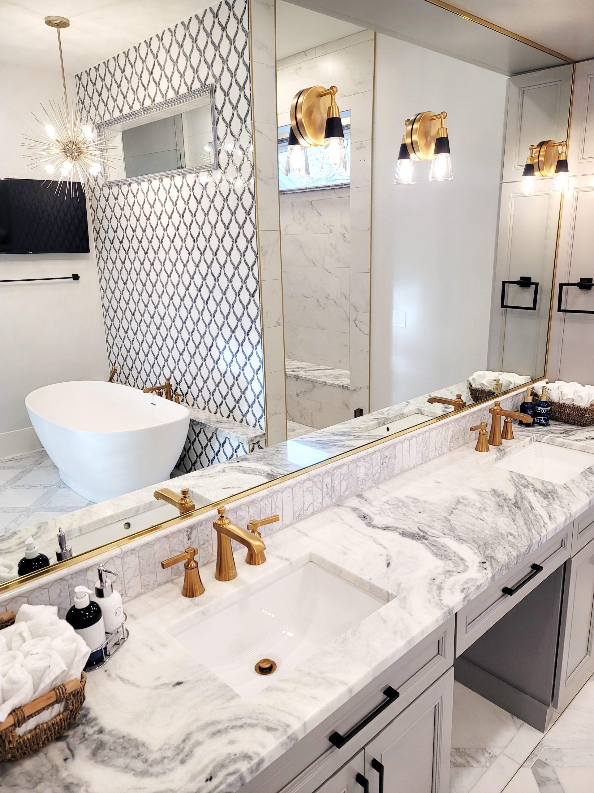 elegant bath sink area