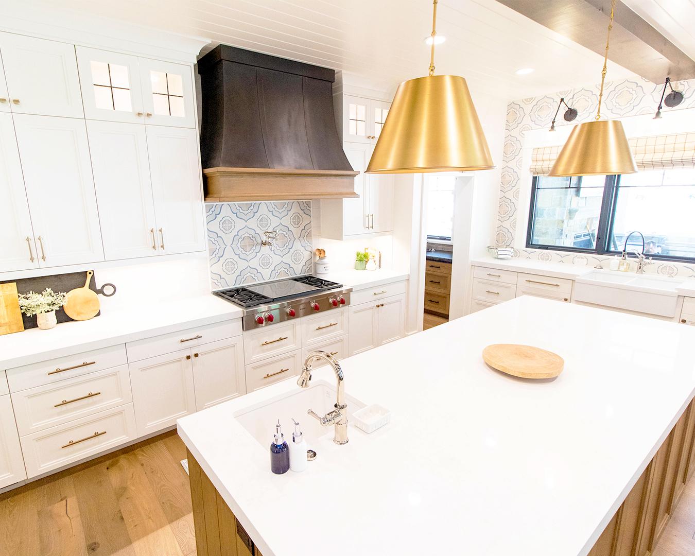 contemporary gold pendant lights kitchen