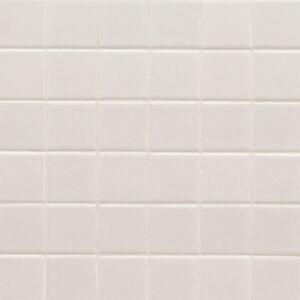 Porcelain Mosaic sheet tile in White 2x2 Matte