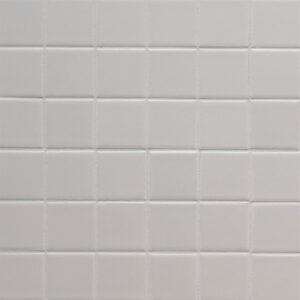 Porcelain Mosaic sheet tile in White 2x2x6mm