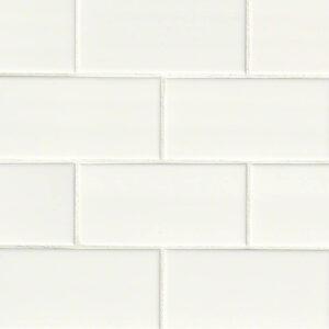 Ceramic tile in White Glossy 3x6 (2020)