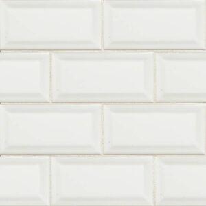 Ceramic tile in White Glossy 3x6 Beveled (2020)