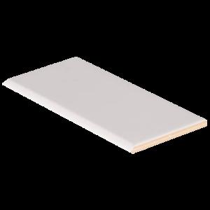 Ceramic tile in White Glossy 3x6 Bull Nose (2020)