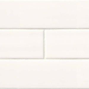 Ceramic tile in White Glossy 4x16 (2020)