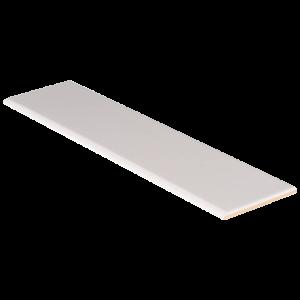 Ceramic tile in White Glossy 4x16 Bull Nose (2020)