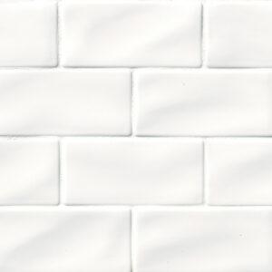 Ceramic tile in Whisper White 3x6
