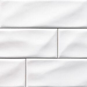 Ceramic tile in Whisper White 4x12